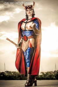 Kimi's cosplay of Big Barda (original design)